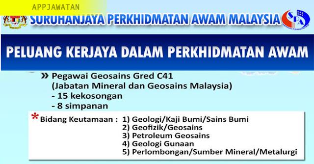 Jawatan Kosong di Jabatan Mineral dan Geosains Malaysia