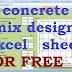 concrete mix design calculation excel sheet