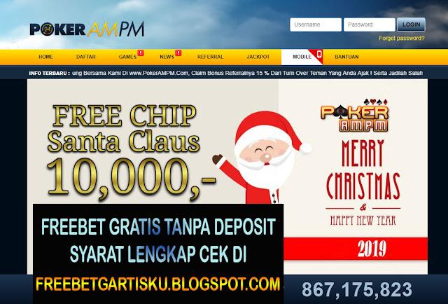 Freebet Gratis Poker Dari AMPM Senilai 10.000