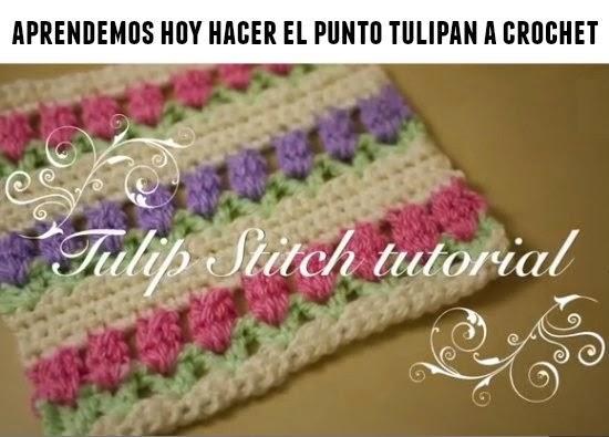 Como hacer el punto tulipan de crochet