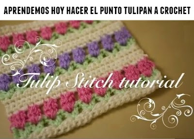 Como hacer el punto tulipán de crochet