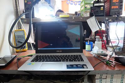 Service Laptop Asus x450j mati total
