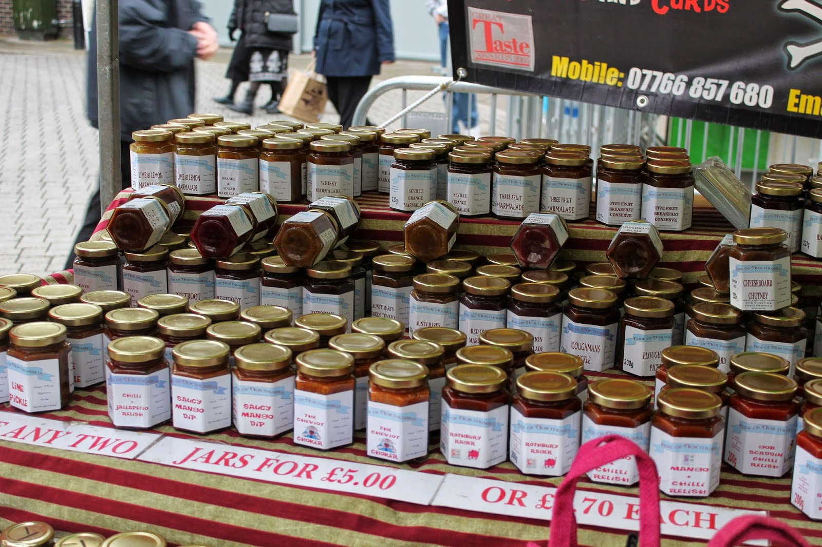 Bishop Auckland Food Festival 2014 - Local Jam, Chutney, Curds