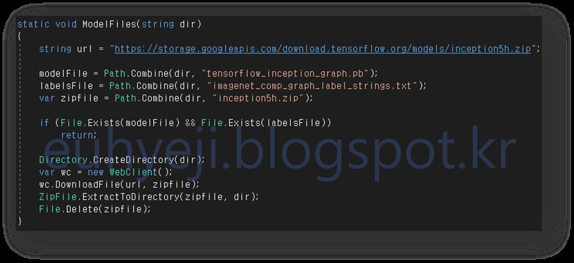 TensorFlowSharp - 02  TensorFlow 모델 사용하기(Winform 앱