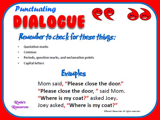 Decker S 5th Grade Language Arts Amp Social Studies Punctuating Dialogue In Writing