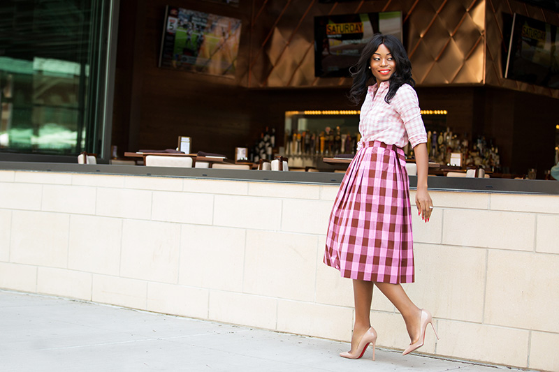 work style, jcrew gingham skirt, www.jadore-fashion.com