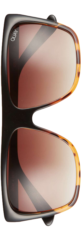 Quay x Desi Perkins On the Low 60mm Square Sunglasses