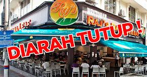 Thumbnail image for Cuci Pinggan Pakai Air Lopak, Restoran Raj's Banana Leaf Diarah Tutup