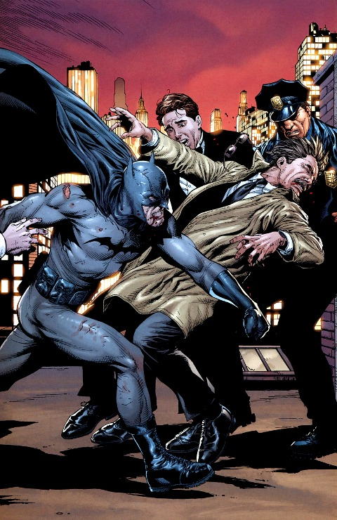 batman against the police in batman earth one