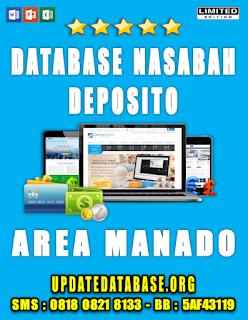 Jual Database Nasabah Deposito Manado