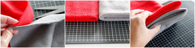Comparing the weights of different polar fleece materials