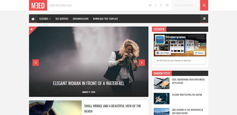 Meed Free Blogger Template