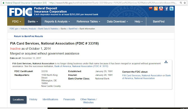 FIA NO MORE (bank profile info from the FDIC (Bankfind search)