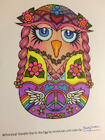 Whimsical Doodle Owl in the Egg coloring book