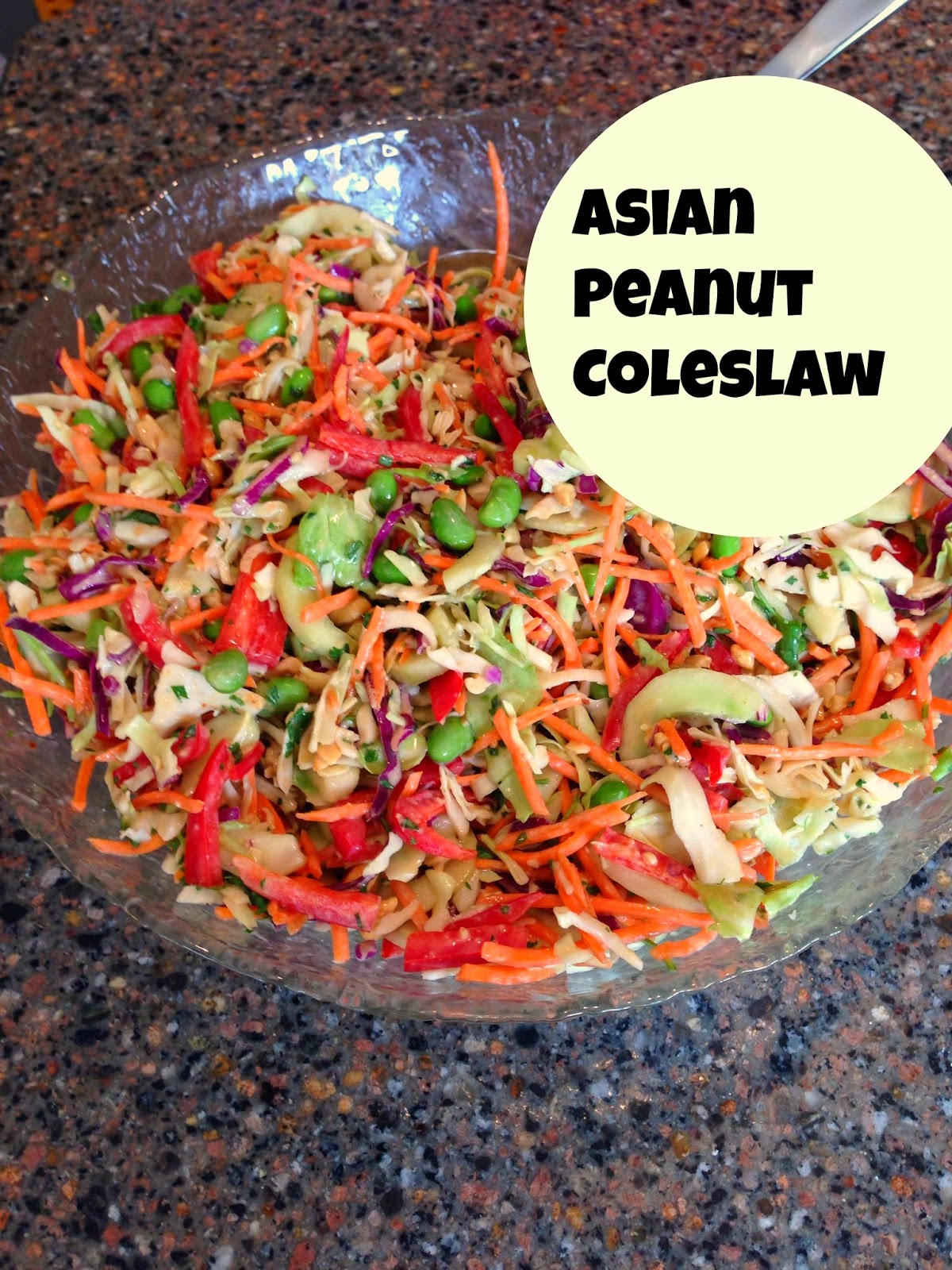 Super coleslaw with peanuts and thai dressing