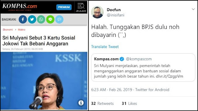 Sri Sebut 'Kartu Sakti' Baru Jokowi Tak Bebani Anggaran, Dokter: Tunggakan BPJS Dulu Noh Dibayarin