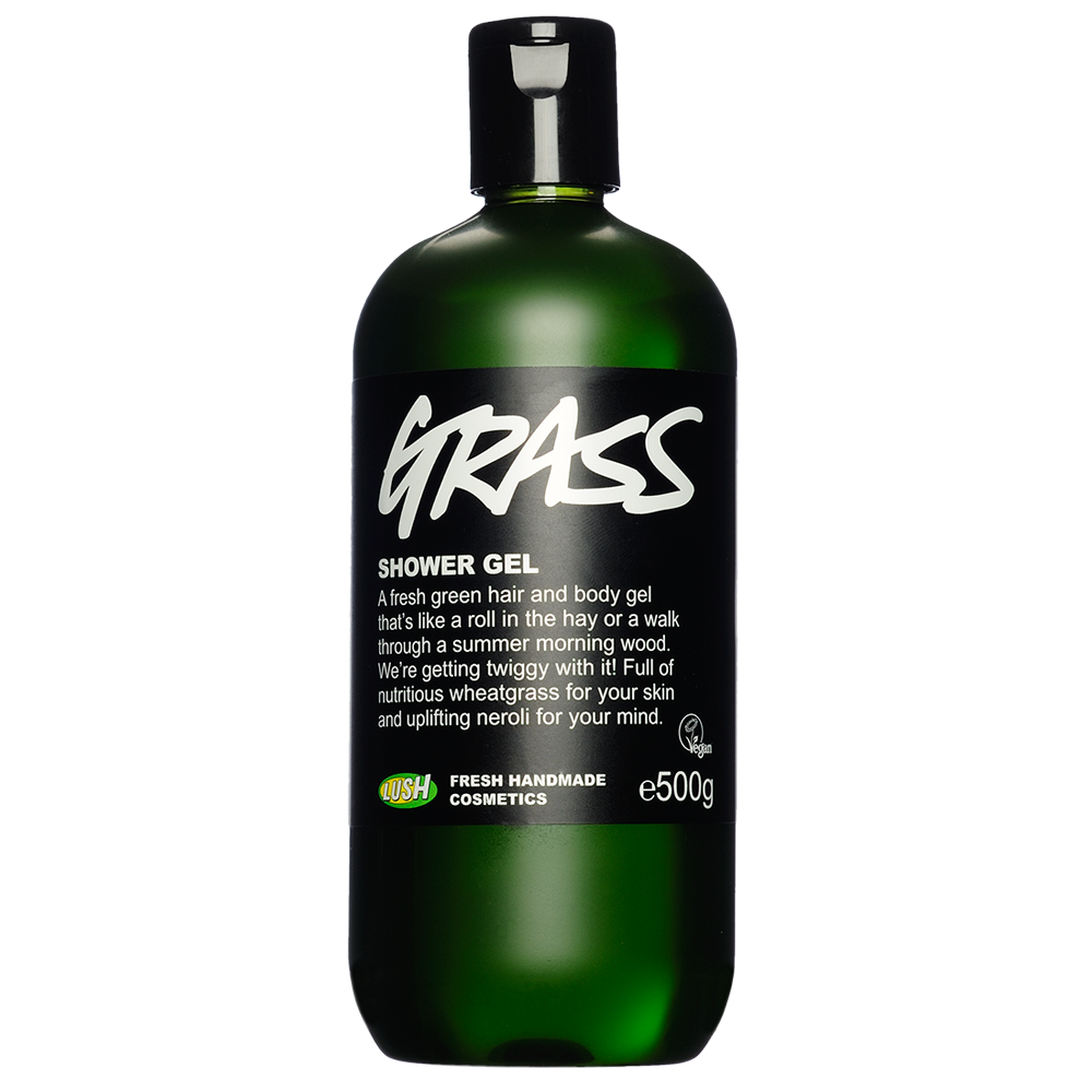 Lush Grass shower gel handmade cosmetics