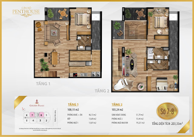 Thiết kế căn hộ Penthouse số 7-8
