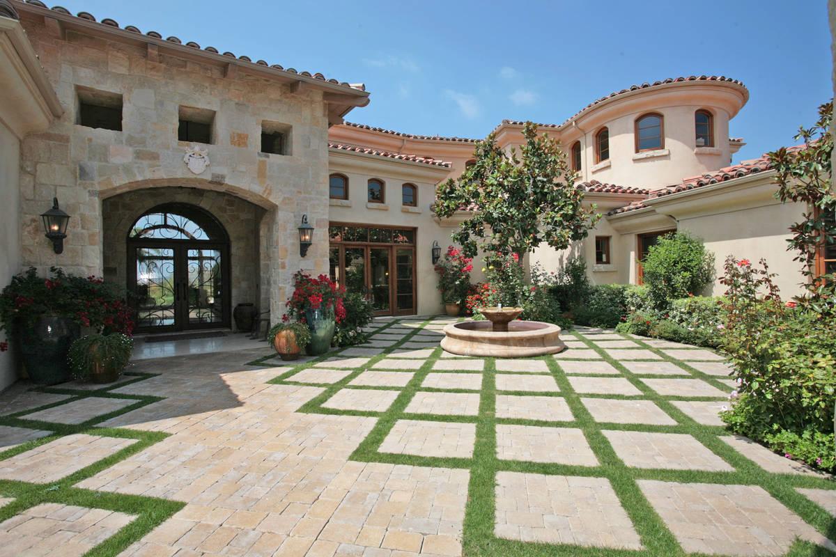 New home designs latest.: Home garden exterior designs.