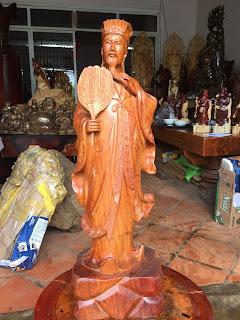 tượng gia cát lượng gỗ mỹ nghệ