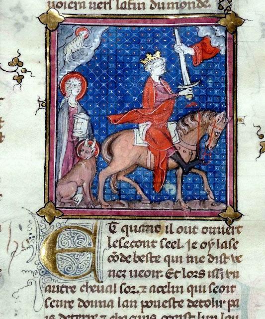 Já não é tempo de calar, mas de combater. La Bible historiatus de Pierre [le Mangeur], BnF, Département des manuscrits, Français 155, fol 195r.