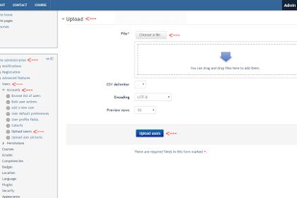 Upload User Moodle Dengan Format CSV di Moodle [Administrator]