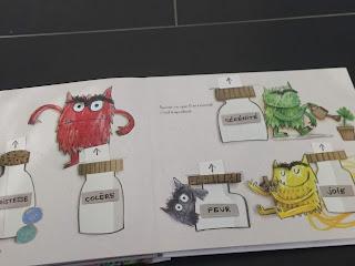"""Page  du livre  """"La couleur des émotions"""" de Anna Llenas regroupant les différentes émotions"""