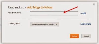 cara tambah daftar bacaan blog