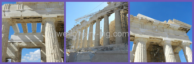work done on the Parthenon is to make sure the structure is secure