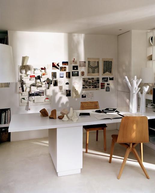 Noé Duchaufour-Lawrance home office in Paris, France