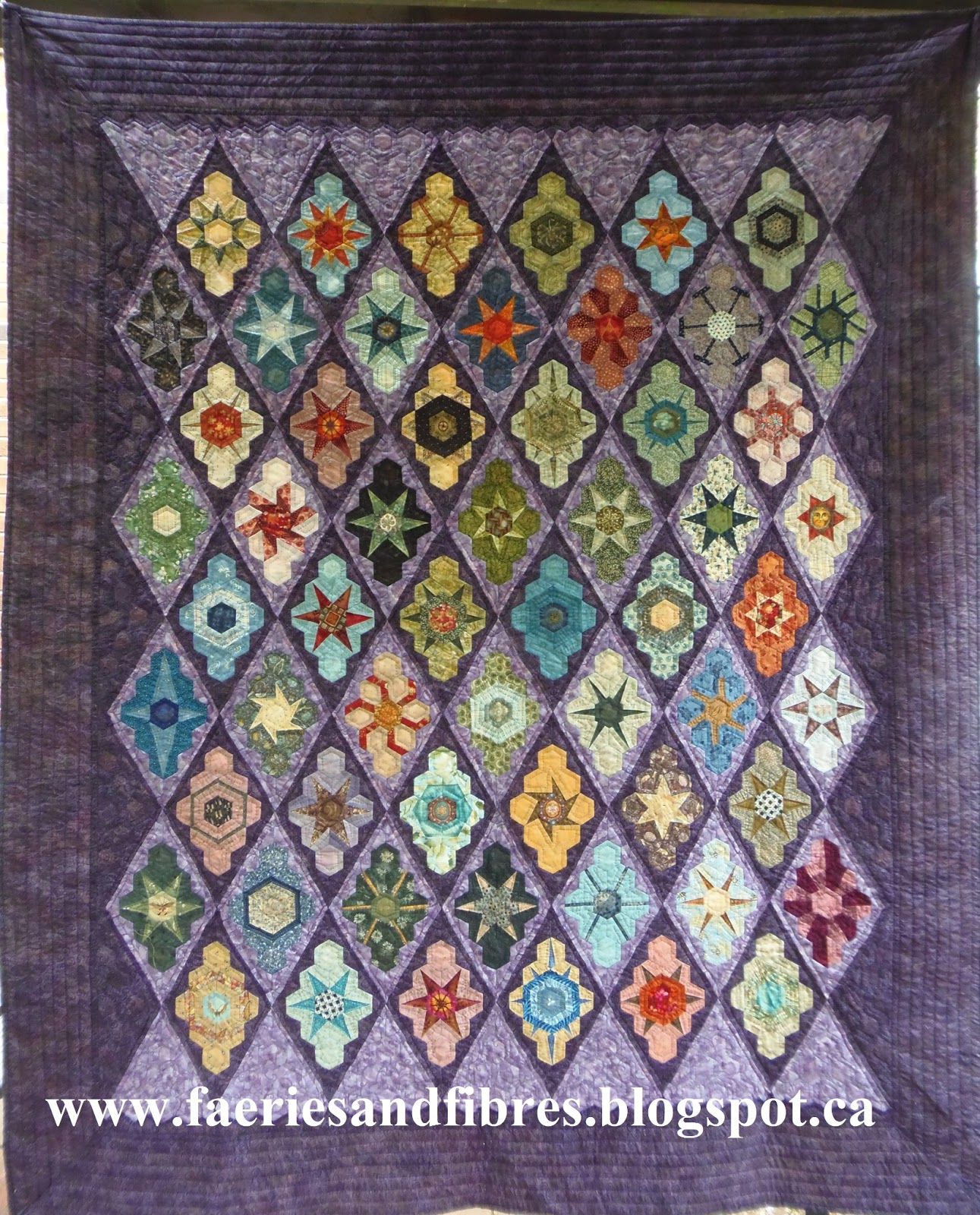 Faeries And Fibres Cherry Blossom Quilt Pattern Hexagon
