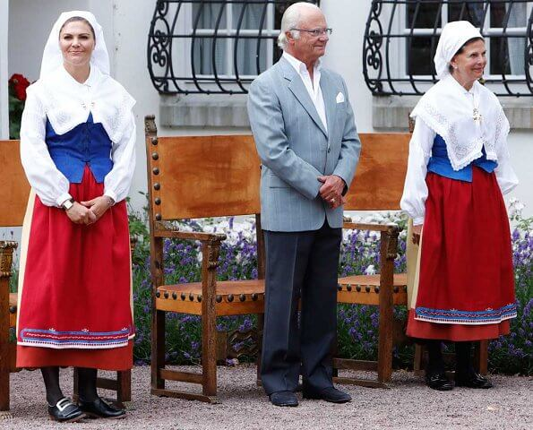 Queen Silvia, Crown Princess Victoria, Princess Madeleine attended presentation of Öland Inhabitant Award at Solliden Palace
