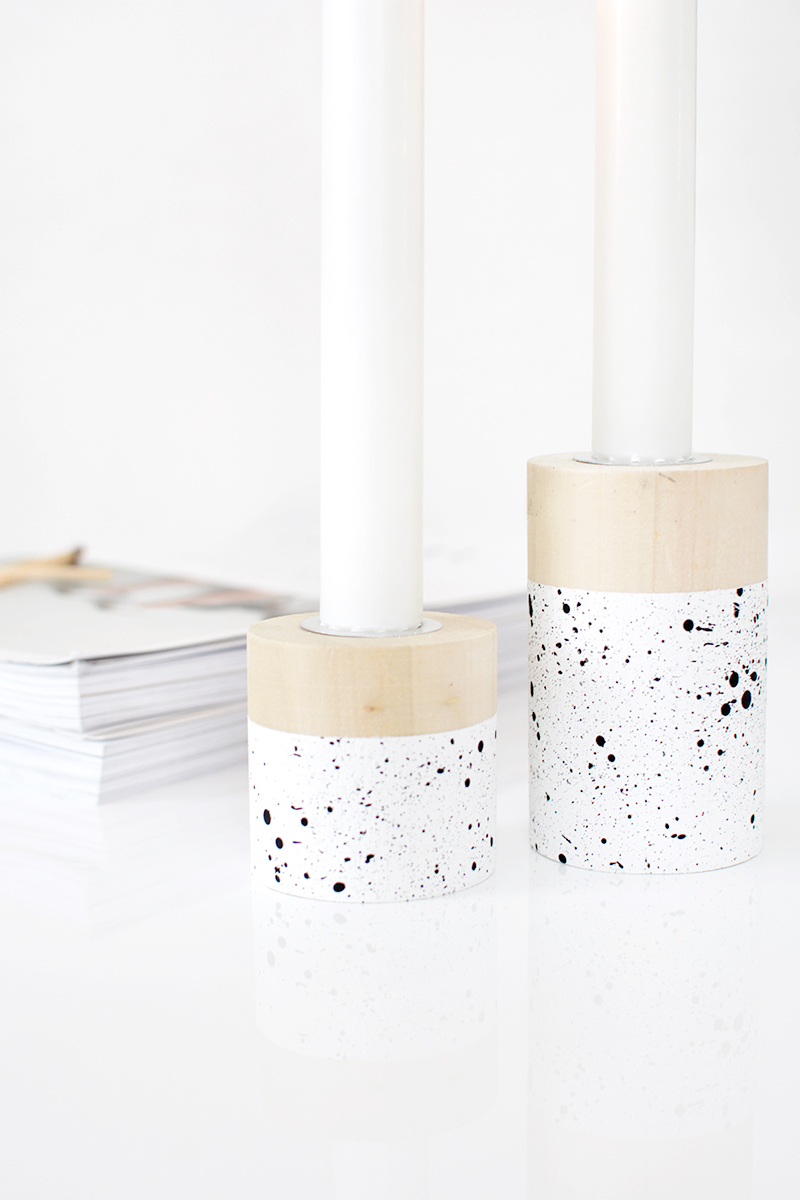 modern DIY candlestick