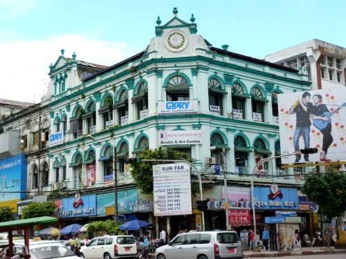 Edificios coloniales en Yangon