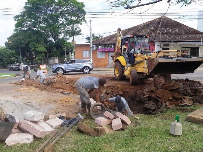 Prefeitura de Gravataí realiza manutenção na rede do Bairro Oriçó