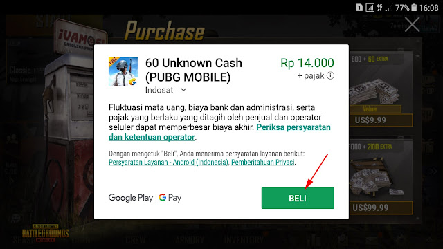Cara Top-up Cash UC PUBG Mobile Dengan Pulsa 24