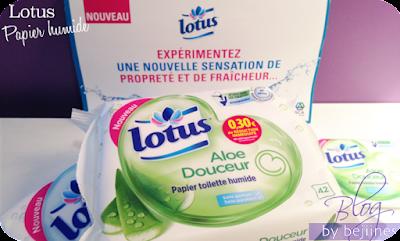 Lotus papier toilette humide