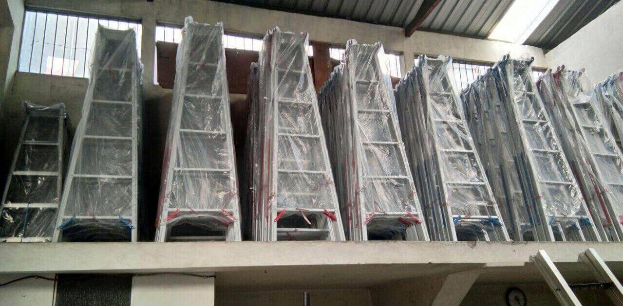Grosir Jual Tangga Model A Aluminium murah Sidoarjo Surabaya 1, 2 dan 3 meter
