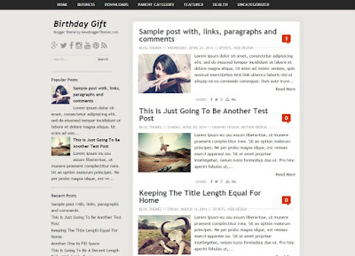 Free Download Birthday Gift Blogger Template Seo