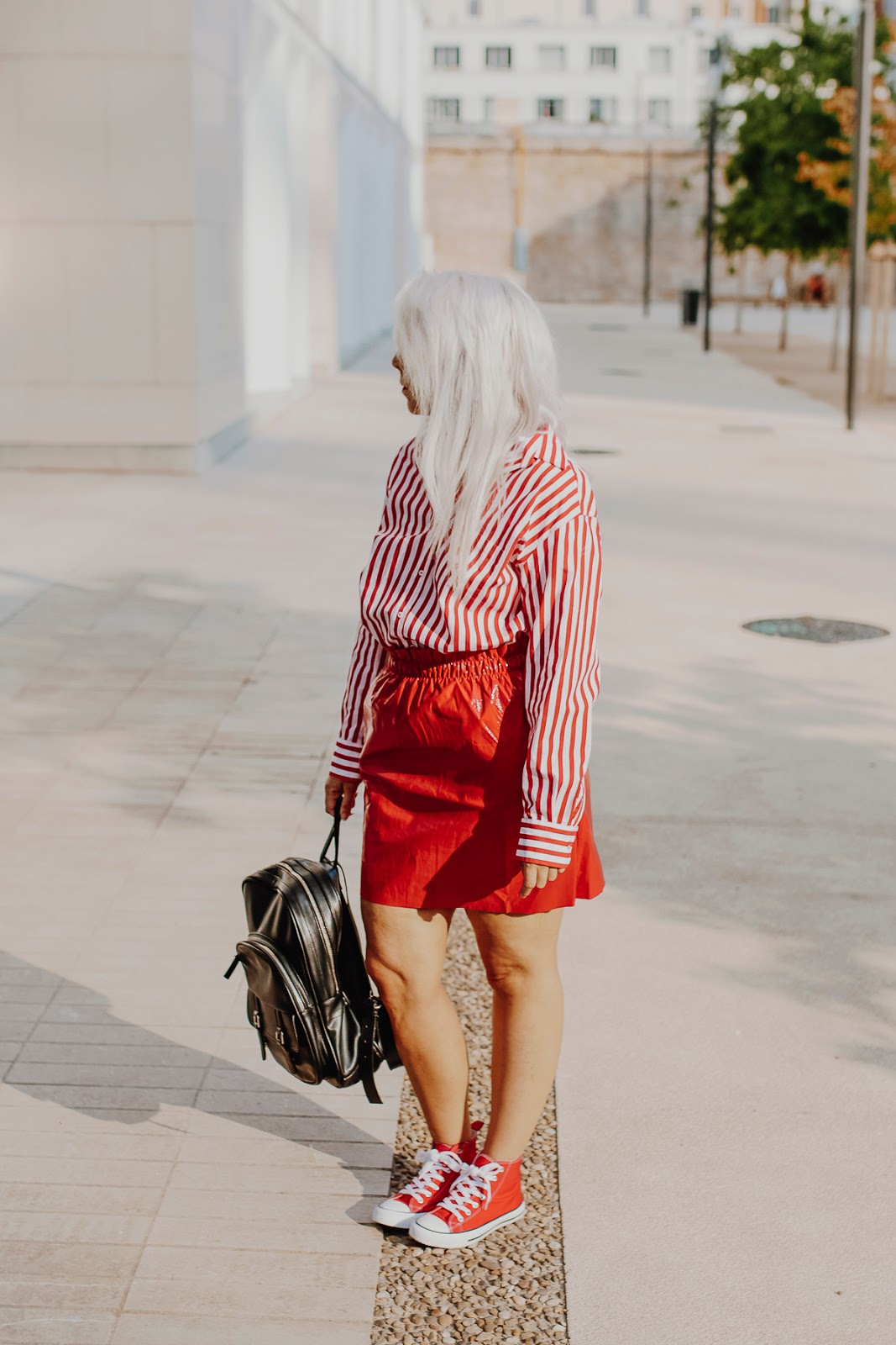 look converse rouge femme