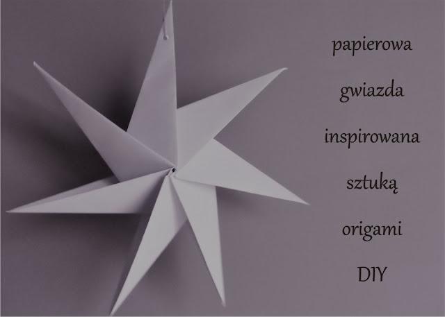 papierowa gwiazda do nowoczesnego wnętrza
