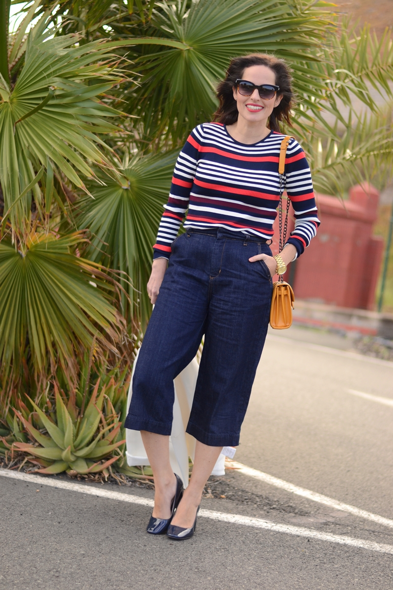 color-stripes-zara-denim-culottes-outfit-street-style