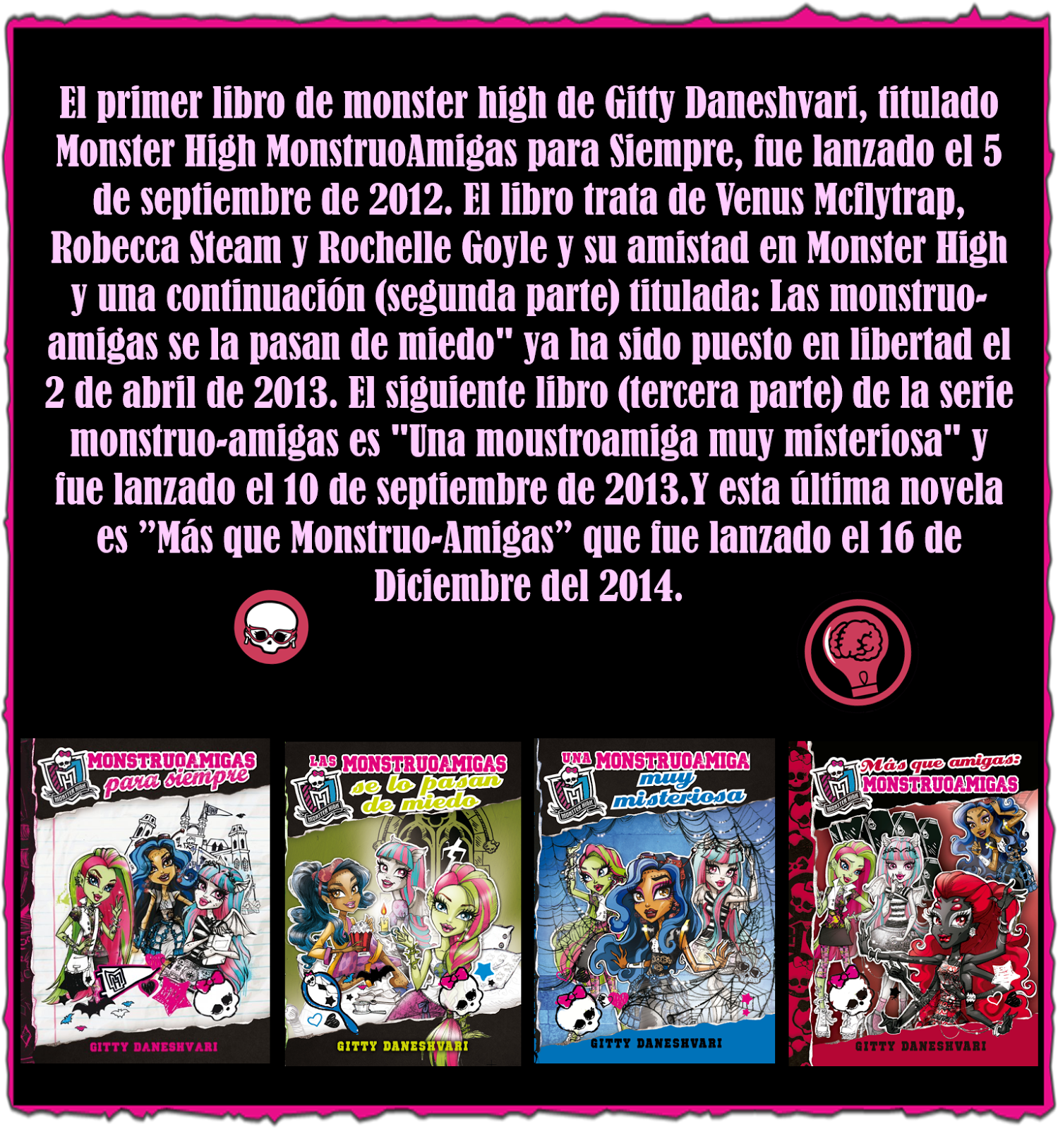 Monster High Libros Monster High Toner Libros