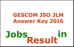 GESCOM JSO JLM Answer Key 2016