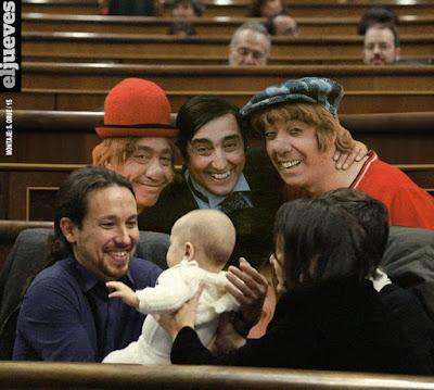 columna Josetxu,Podemos, Pablo Iglesias, investidura