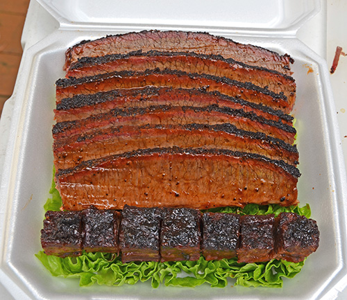 Competition style brisket on a kamado grill