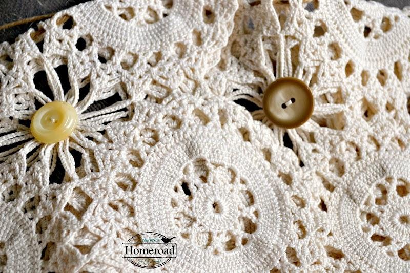 Vintage Crocheted Doily Garland