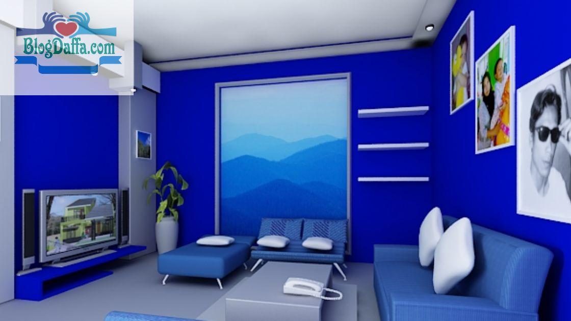 Rekomendasi warna cat kamar biru terbaik