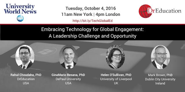 Global Online webinar on higher education strategies Rahul Choudaha