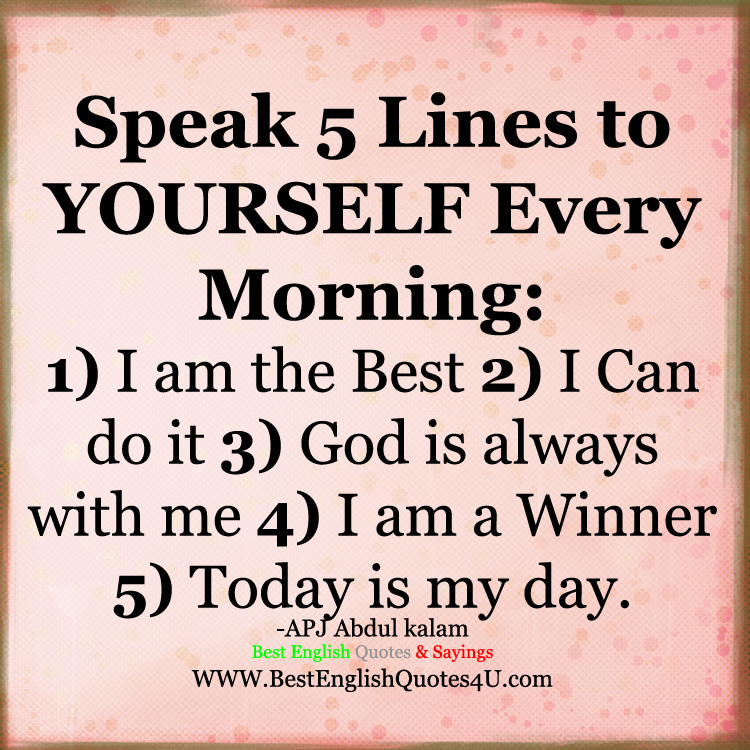 I Am Doing The Best I Can Quotes: Speak 5 Lines To YOURSELF Every Morning: